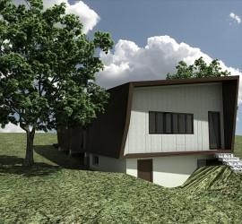 Přestavba chaty Halouny